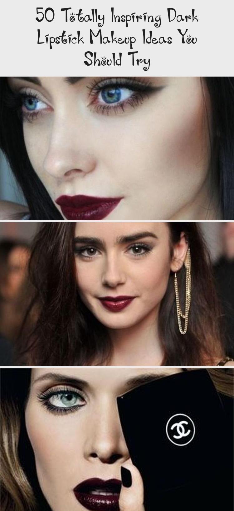 Photo of Dekoration İdeen –  Totally Inspiring Dark Lipstick Makeup Ideas You Should Try…