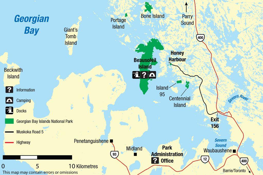 Map Of Georgian Bay Canada GBIMap_en. 1,024×682 pixels | Georgian bay islands national