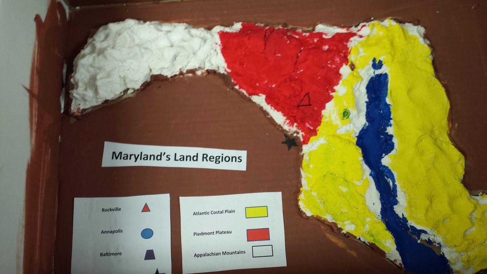 salt dough map - MD | States project, Salt dough, Map on 3d salt-dough maps, social studies maps, salt-dough landforms maps,
