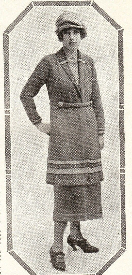Vintage knitting patterns-vintage 1920s knitting pattern for long ...