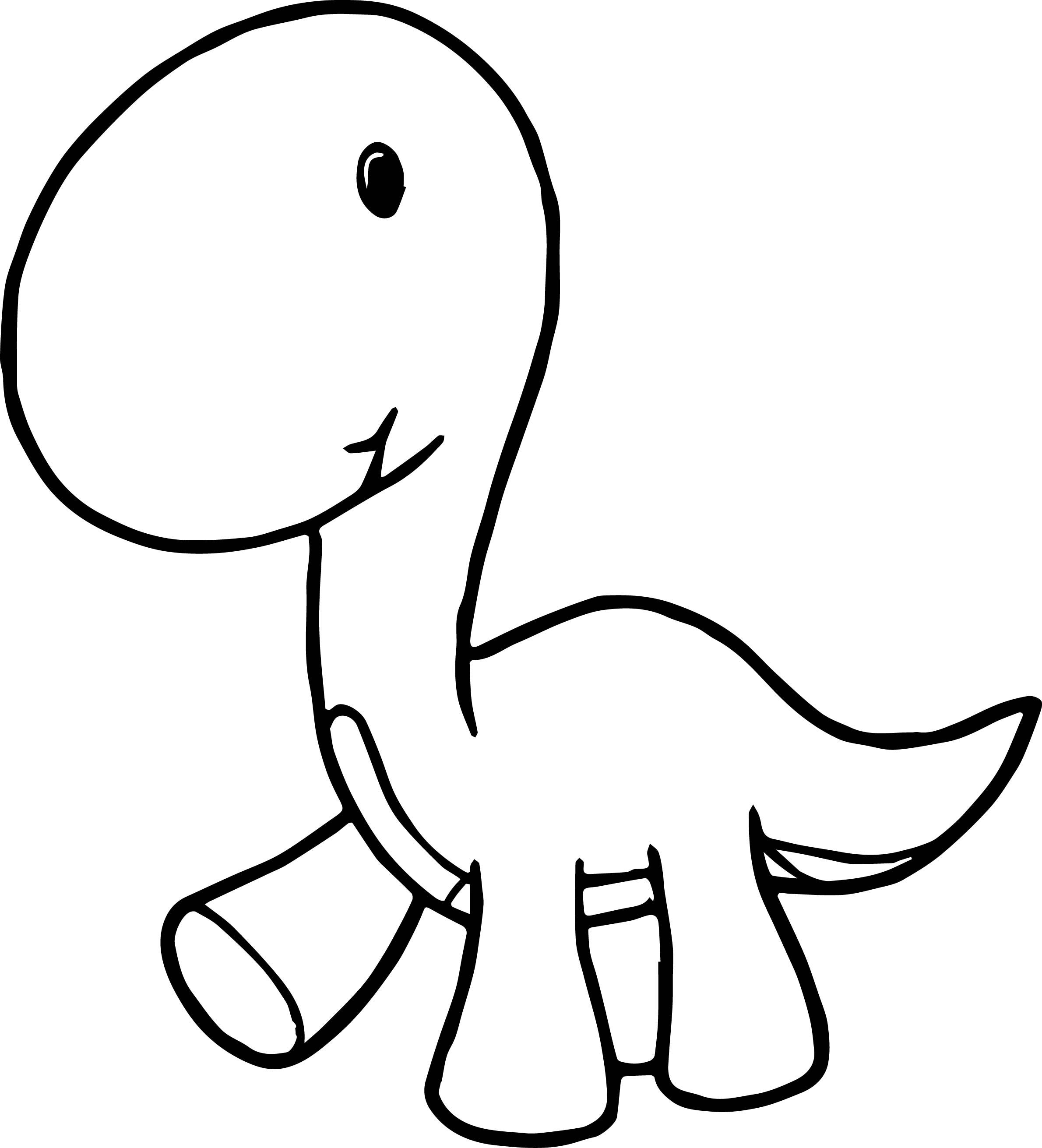 Baby Dinosaur Cartoon Coloring Page Dinosaur Coloring Pages