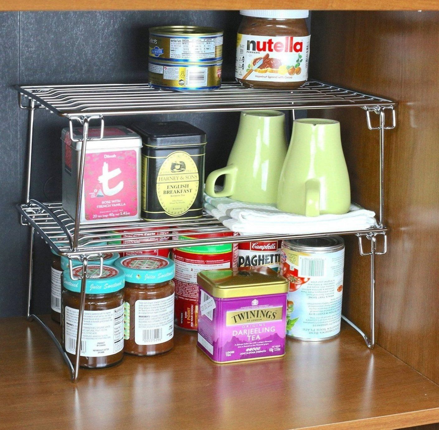 15 Mind Blowing Kitchen Cabinet Organization Ideas You Ll House Decor Diy Home Decor Dec In 2020 Stacking Shelves Kitchen Cabinets Decor Kitchen Storage Organization