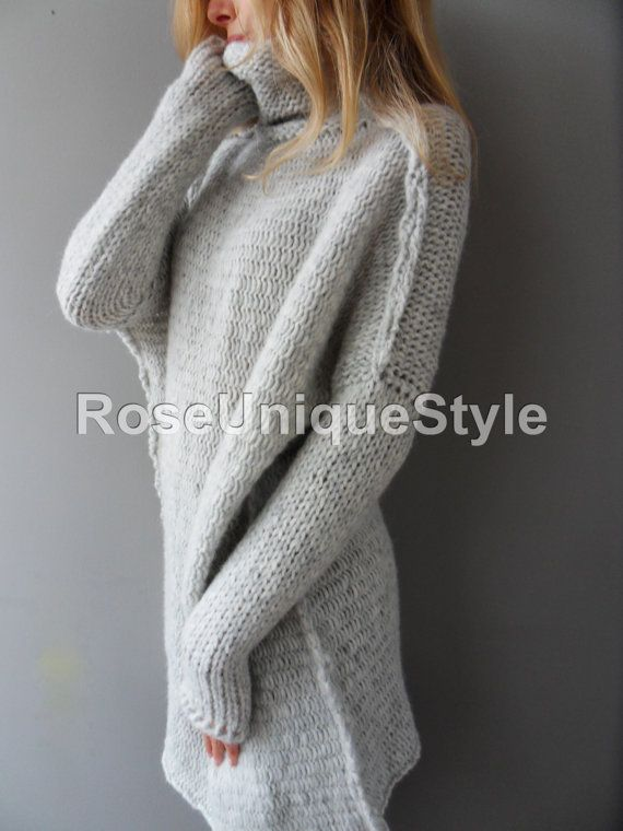 67154c82c5f Oversized Handmade Chunky knit Alpaca woman sweater. | Products ...