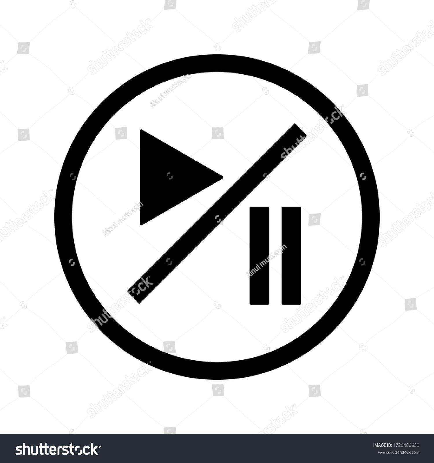 Play Pause Button Vector Icon Video Stock Vector Royalty Free 1720480633 Vector Icons Icon Stock Vector