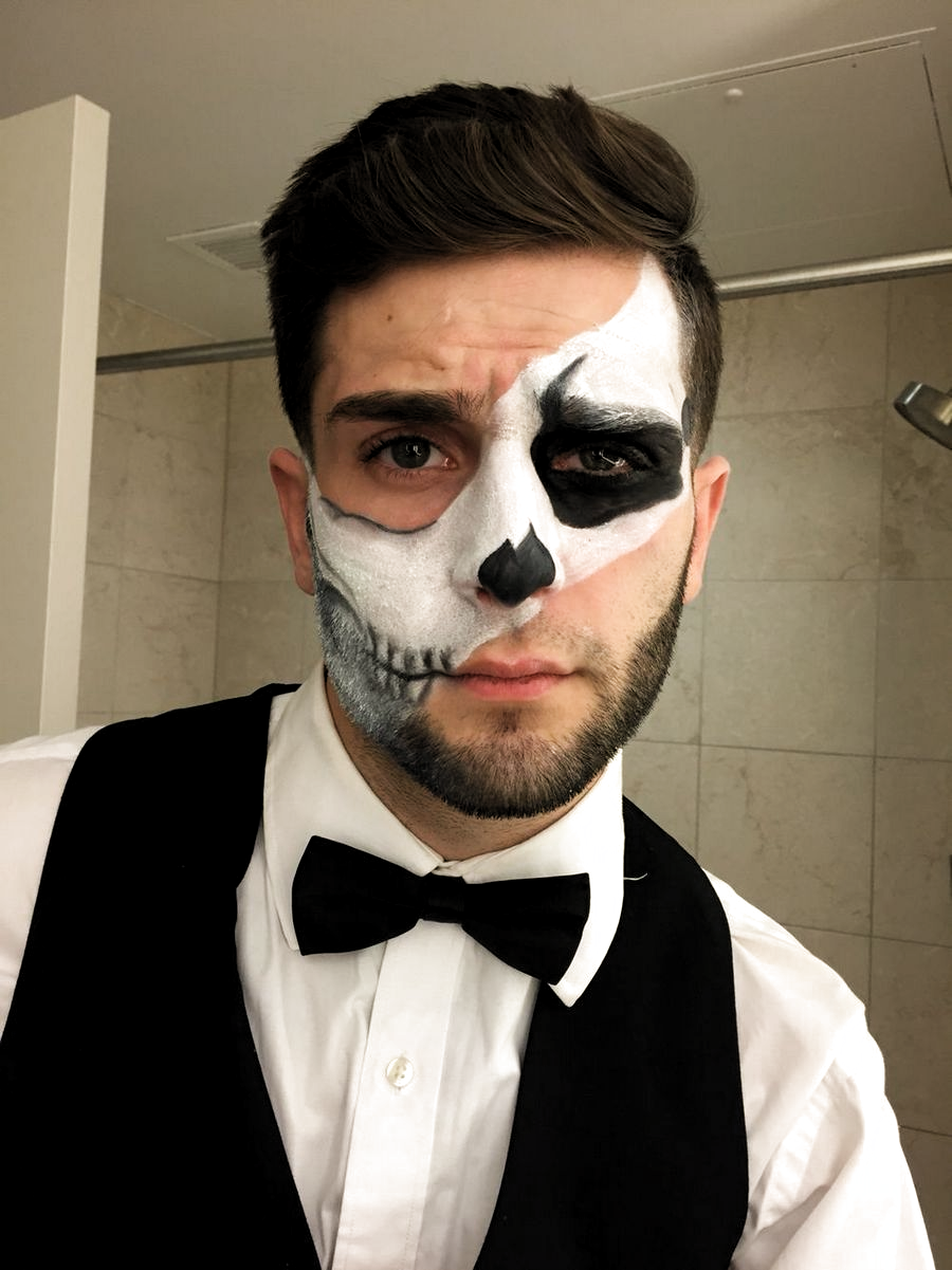 40 Awesome Halloween Makeup Ideas For Men Looks Scary in
