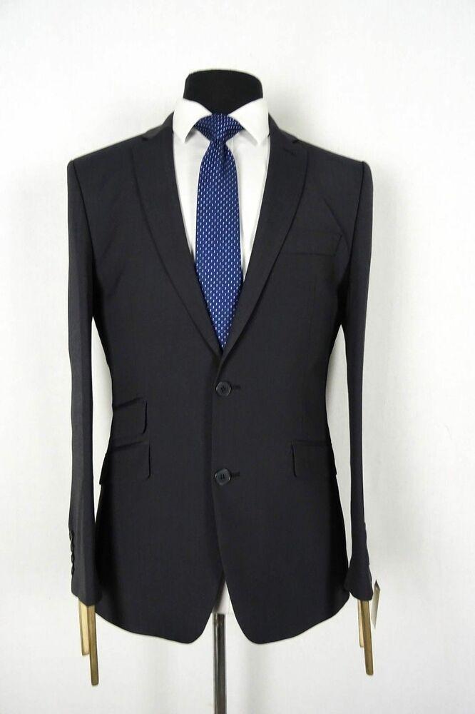 Men/'s Dresscott Charcoal Grey Tailored Fit Suit VB198