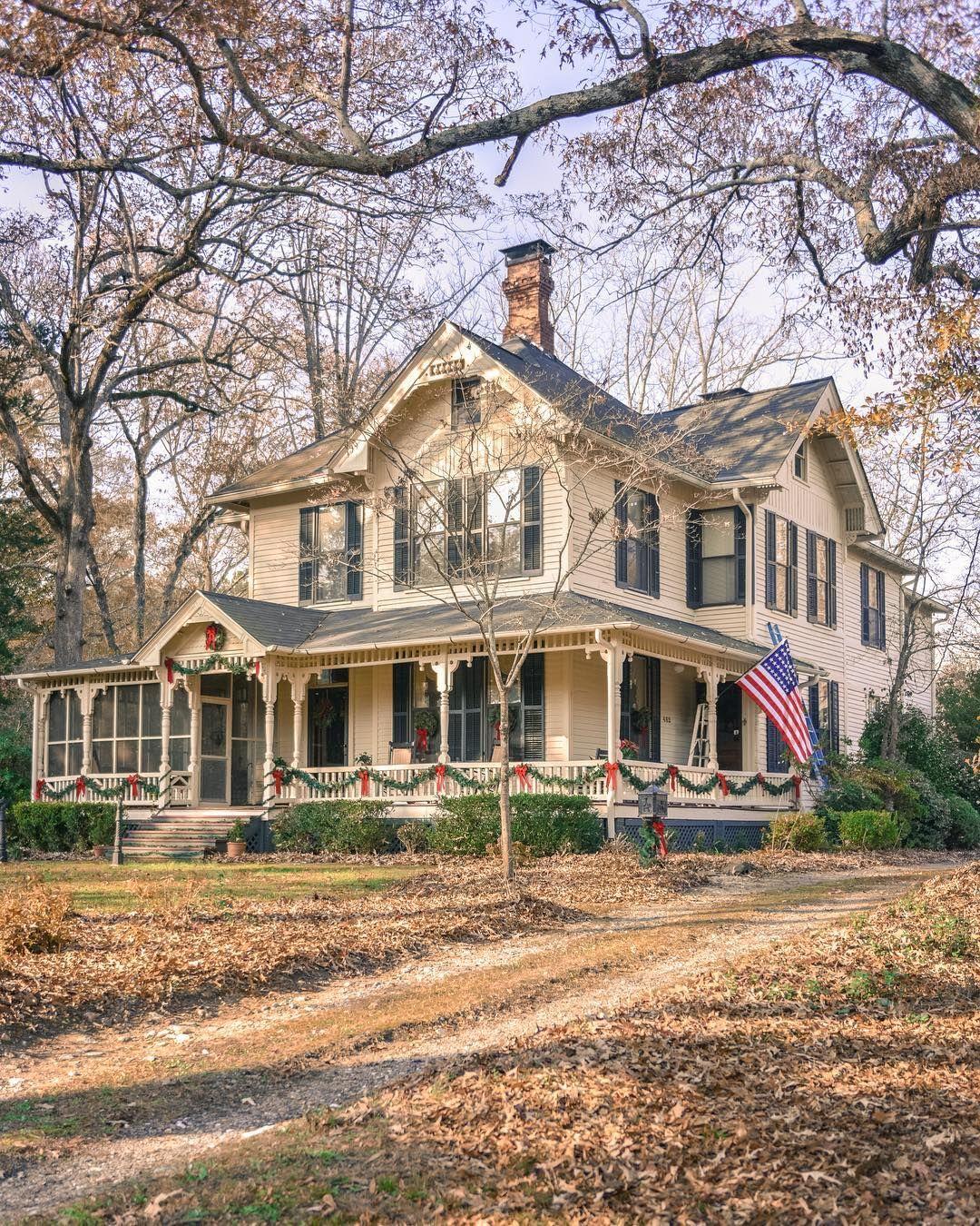 Marietta Georgia House Exterior American Houses House Front Porch