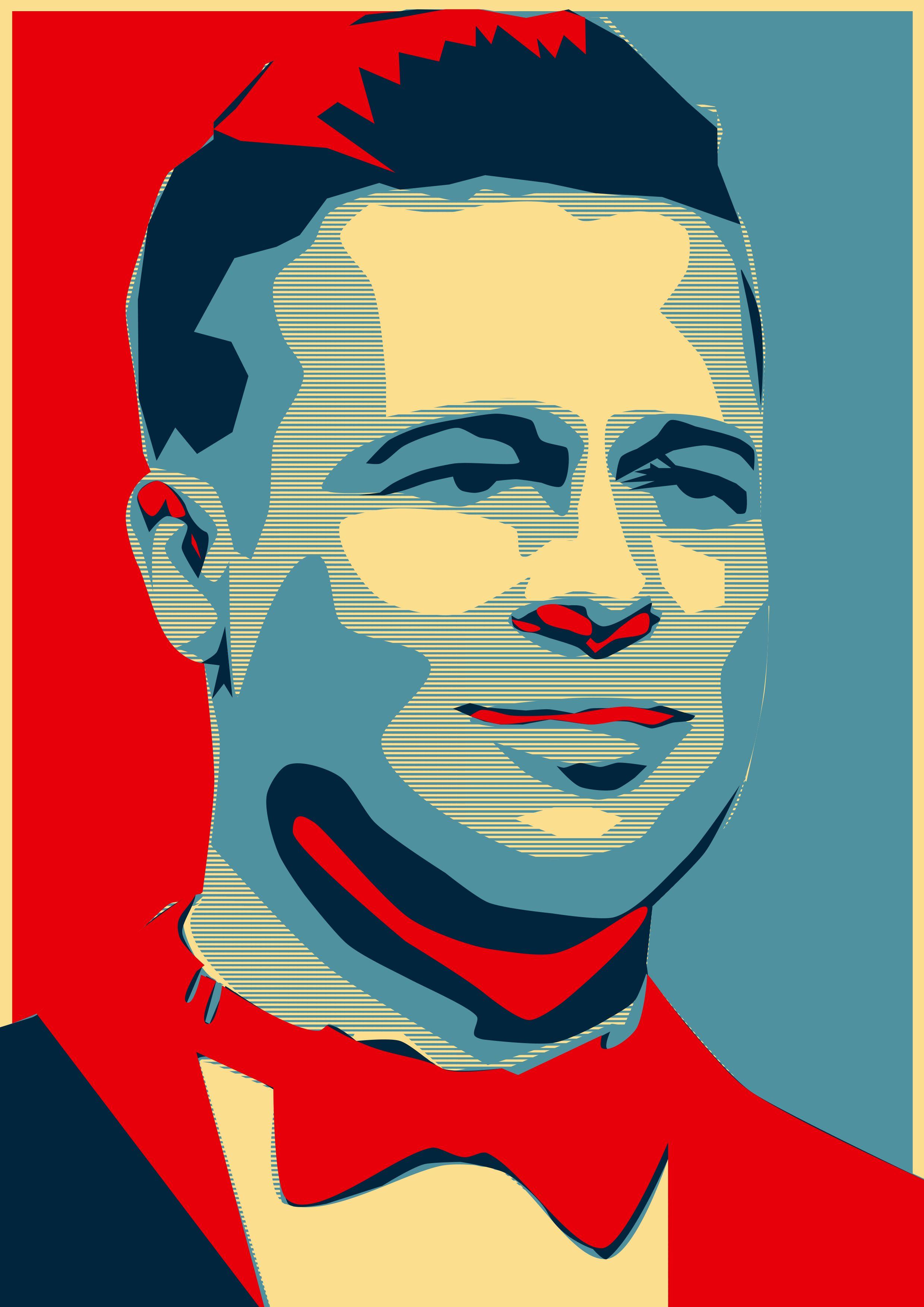 Illustrator Poster Brad Pitt