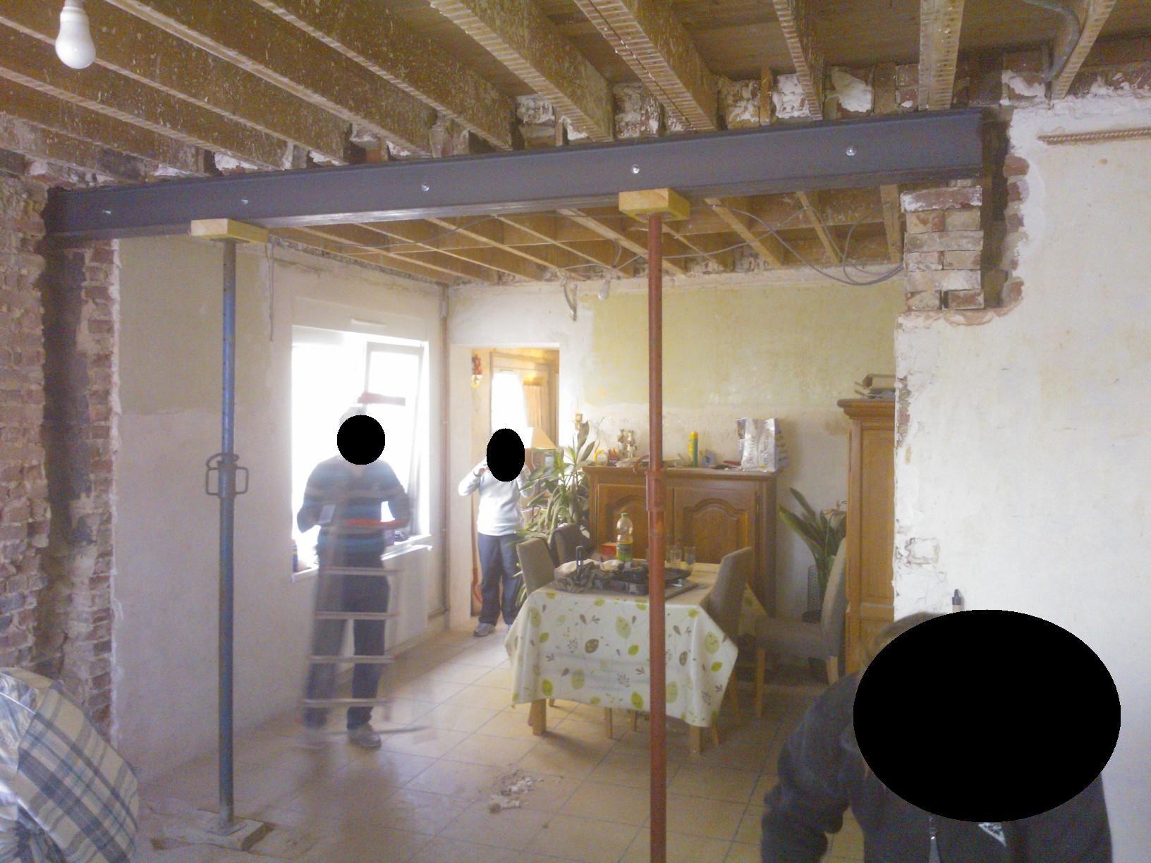 Casser Une Cloison En Brique casser le mur porteur pour mettre un ipn | mur porteur