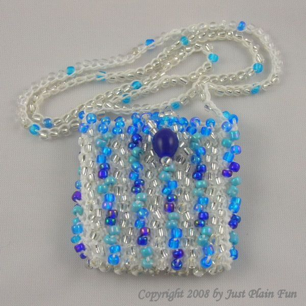 beading pattern peyote stitch amulet bag by