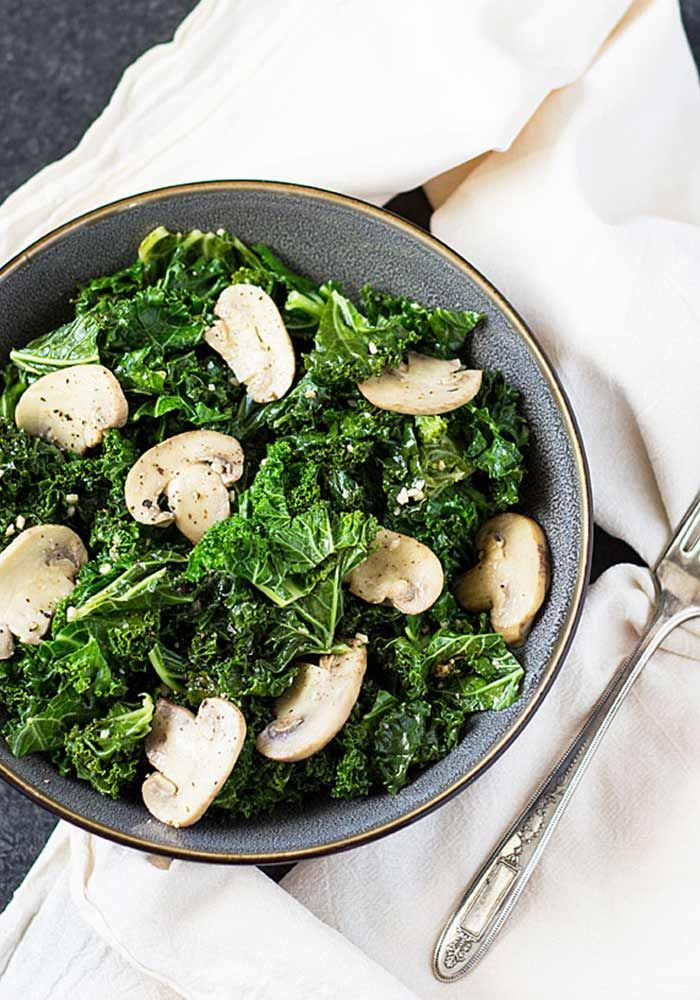 Sautéed Kale and Mushrooms  Healthful Aspects – Mushrooms are one of the best sources of disease-fighting phytochemicals that reduces the risk of breast cancer and prostate cancer. Mushrooms are loaded with hard-to-get nutrients such as selenium, copper and potassium and they retain the nutrients even after being stir-fried, grilled or micro-waved.