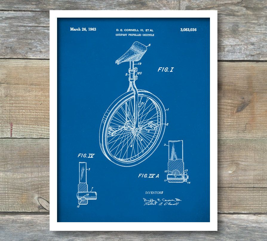 Unicycle art print patent unicycle vintage art blueprint poster unicycle art print patent unicycle vintage art blueprint poster patent prints wall art bicycle dcor p211 by neuestudioartprints on etsy malvernweather Images