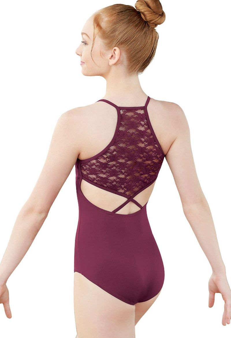 6e73efcd69 Lace Back Halter Dance Leotard