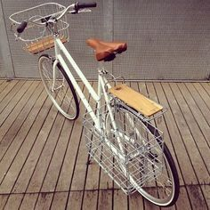 Customised Bisou With Wald Rear Rack And Front Basket Rear Bike