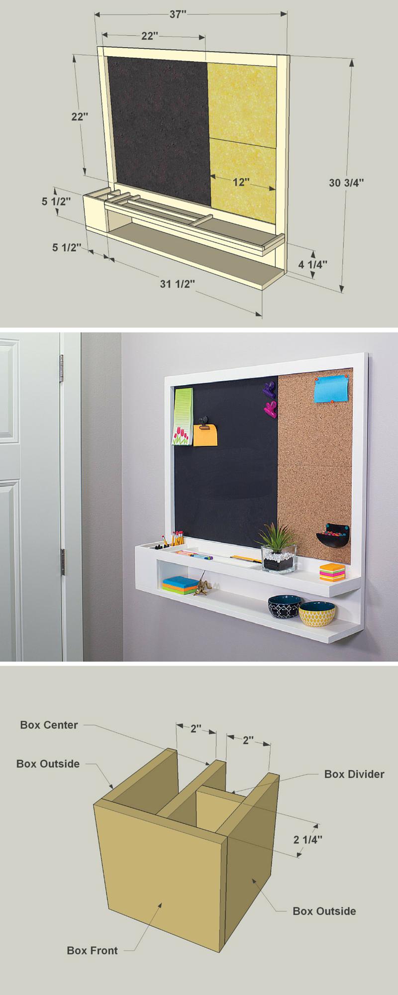 27 DIY Cool Cork Board Ideas, Instalation & Photos | Pinterest ...
