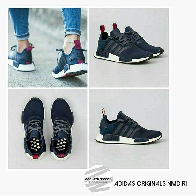 the latest c6f39 a3426 Adidas Originals Nmd R1 สีน้ำเงินแท็กชมพู ราคา 8,265 บาท รวมจัดส่ง ไซส์  สอบถาม สนใจพรีออเดอร์สินค้าติดต่อ Line Coolstuffzzzz coolstuffzzzz nmd  nmdr1 ...