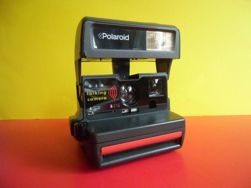 Polaroid 636 Instant Talking Camera Die Sprechende Kamera Zwei Aufgezeichnete Nachrichten Sind Moglich Lachen Und Muhhhen Polaroid Elektronik Kamera