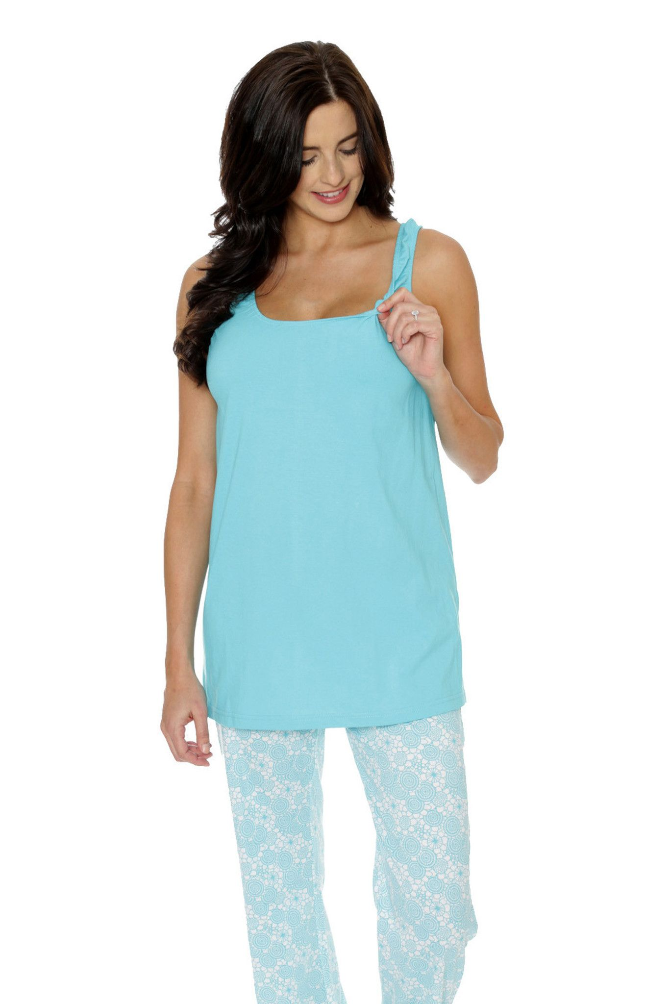 d7b7af7b02 Celeste Nursing Pajamas – Milk   Baby