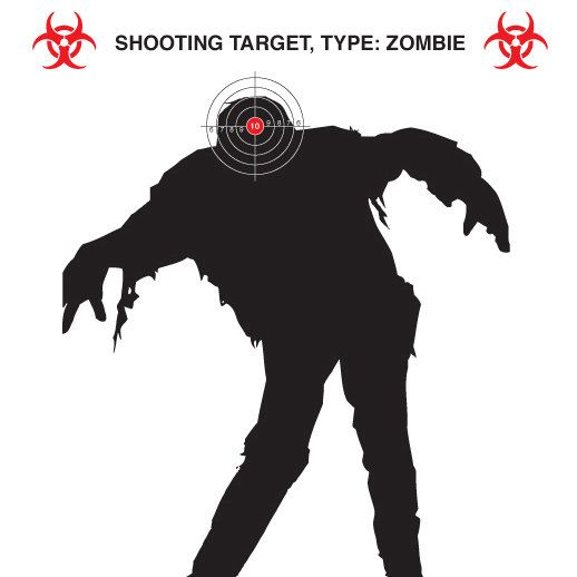 8x10 print Zombie target practice. Activity for birthday party. Need nerf  guns.