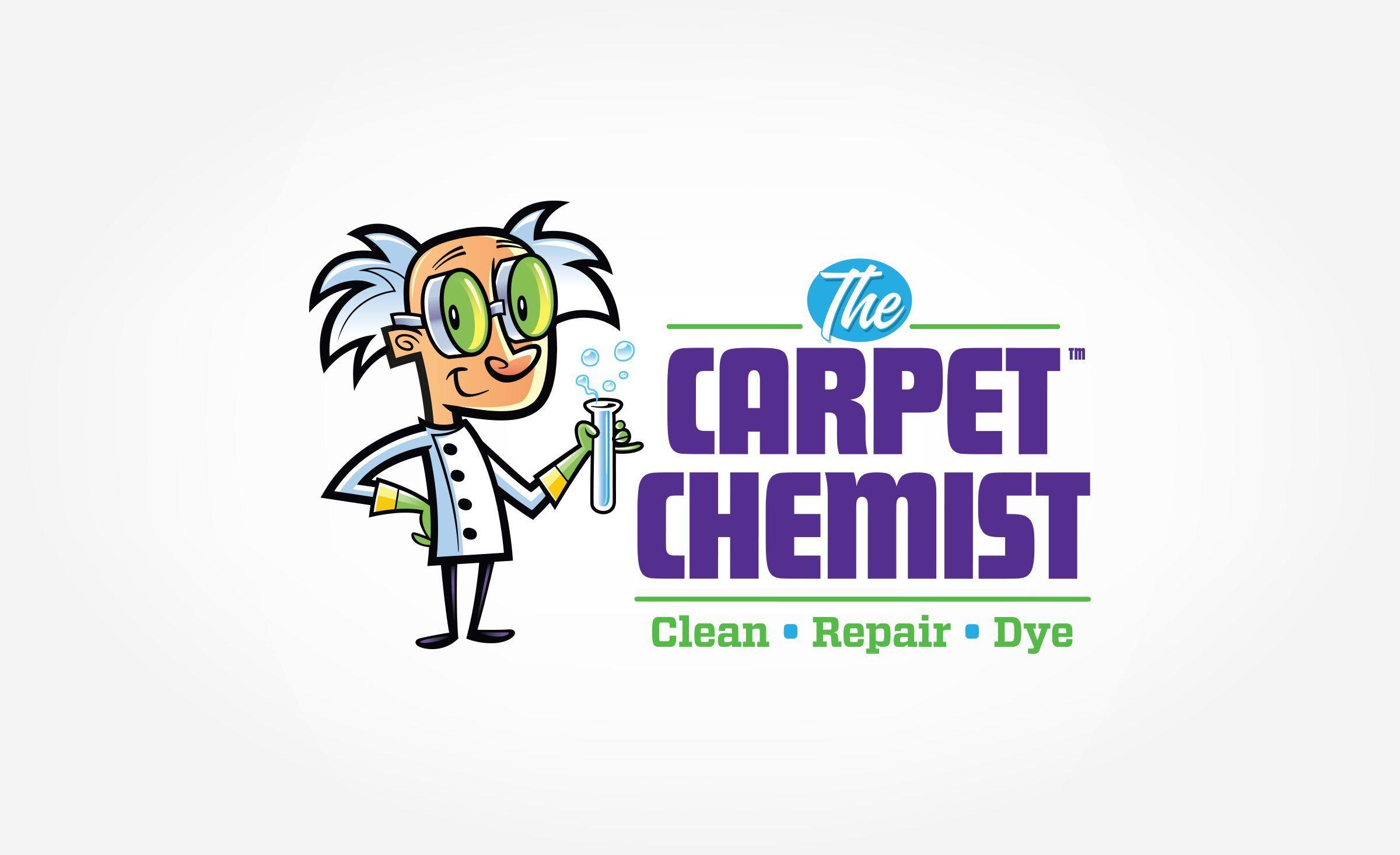 The Carpet Chemist Kickcharge Creative Small Business Logo