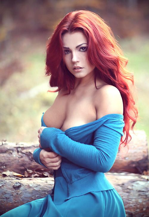 Hot sexy babe red hair — 7