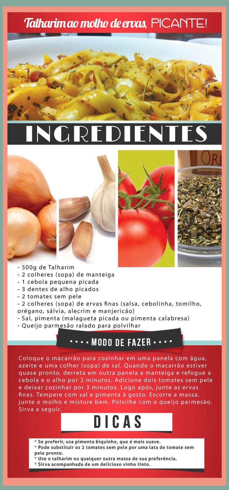 Talharim #talharim #receita #pimenta #picante #sabores #comida #food #saude #bemestar #alimentos #nutricao