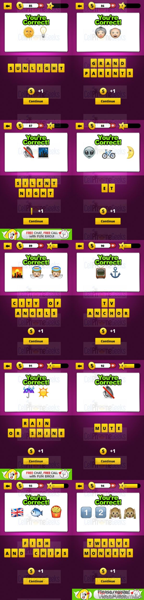Guess The Emoji Level 7 Answers Cellphonegeeks Guess The Emoji Answers Guess The Emoji Emoji Answers