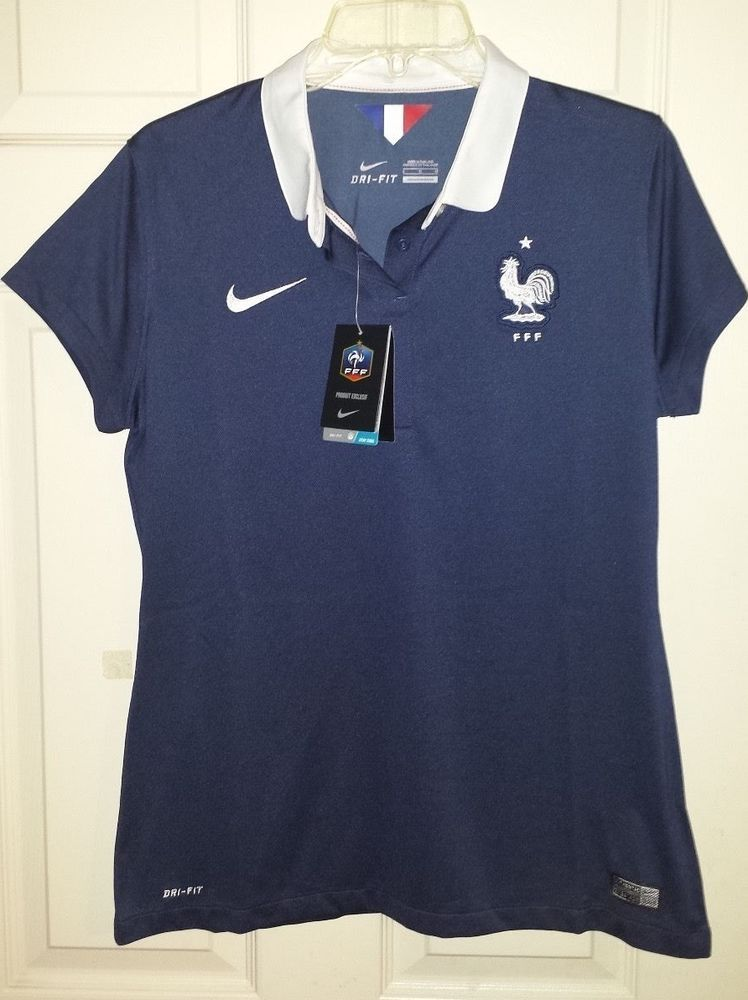 Nike France National Team Soccer Jersey Home Womens Large L Nwt Navy Fff Dri Fit Nike Women Dri Fit France National Team