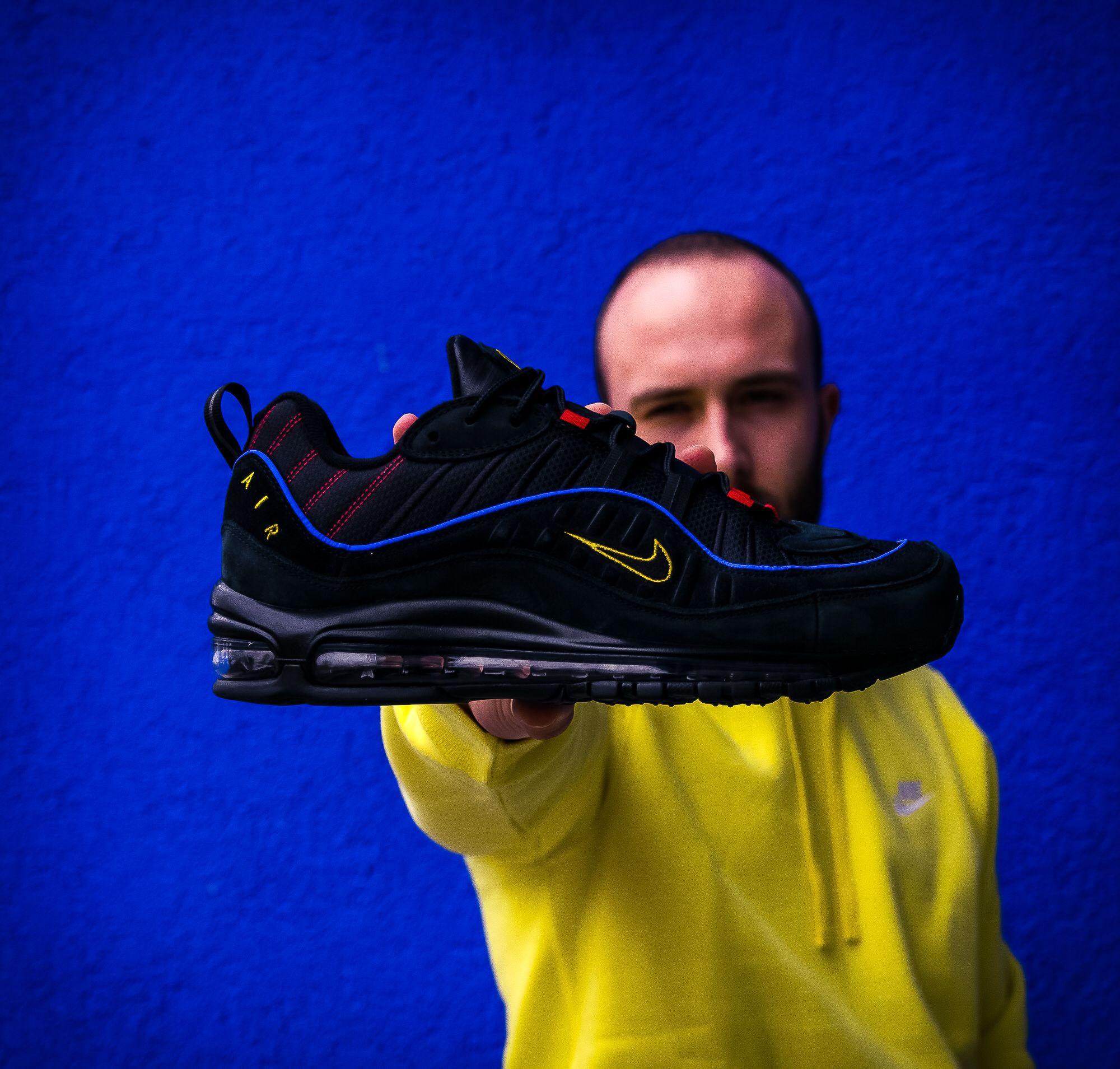 air max 98 black blue yellow
