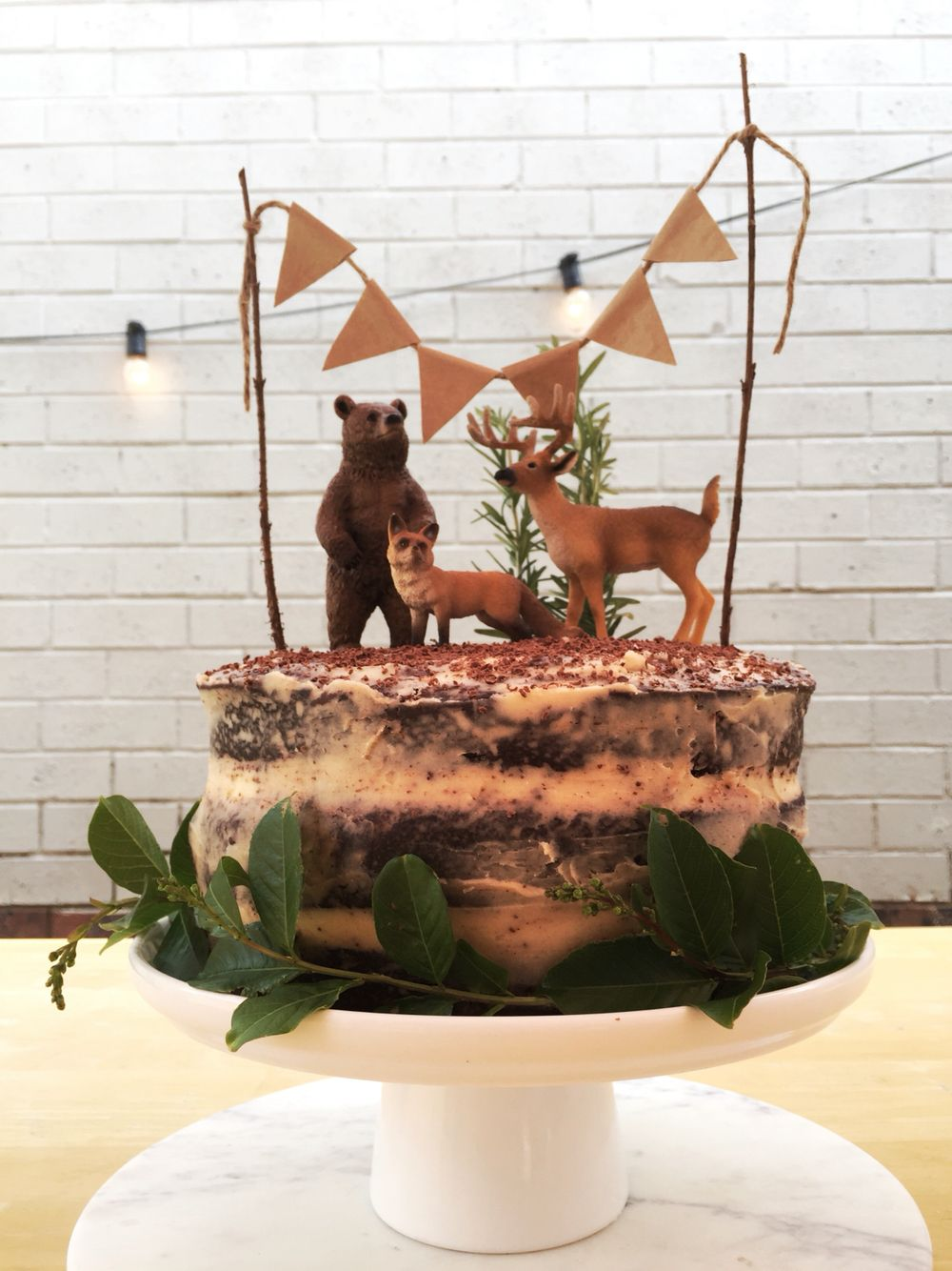 Woodland themed cake inspired by another Pinterest post, made with ...