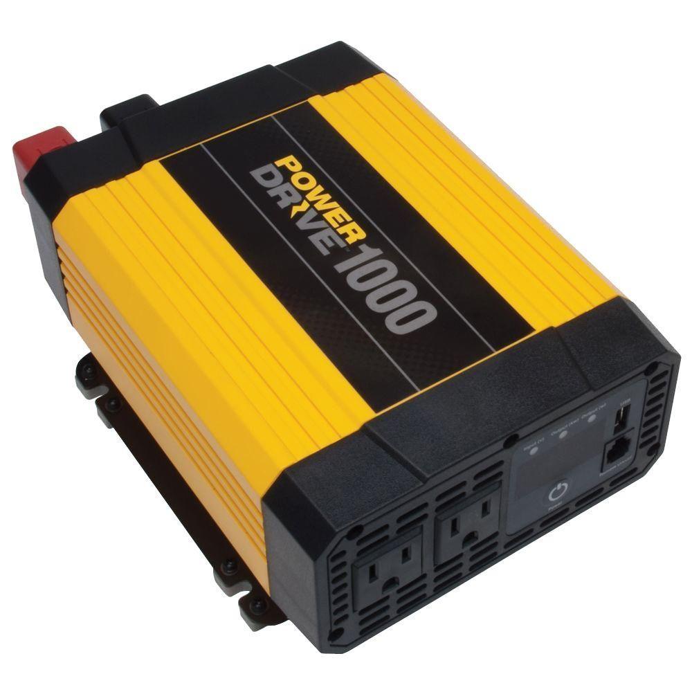 1 000 Watt Power Inverter Yellow Black Power Inverters Ac Power Usb