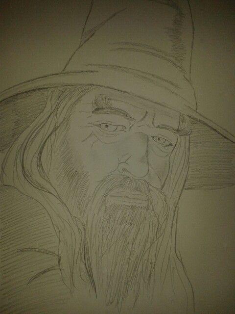 Défi de dessin de 30 jours: jour 20. Personnage littéraire. Gandalf le gris. - #challenge #character #drawing #Gandalf #literary -