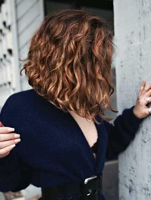 15 Best Long Bob Brown Hair Bob Haircut And Hairstyle Ideas Short Wavy Hair Thick Curly Hair Hair Styles