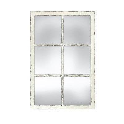 Distressed White Window Pane Mirror Mirror Candle Mirror Window Pane Mirror