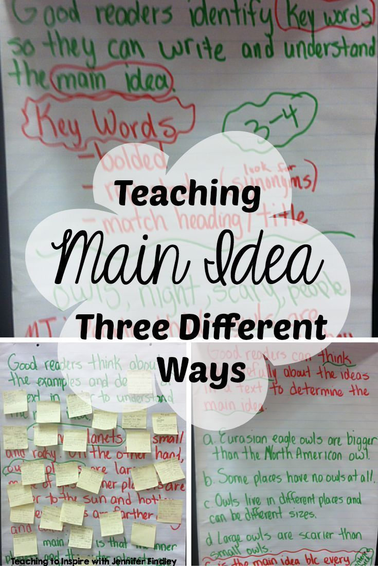 Teaching Main Idea of Nonfiction Text *3 Different Ways
