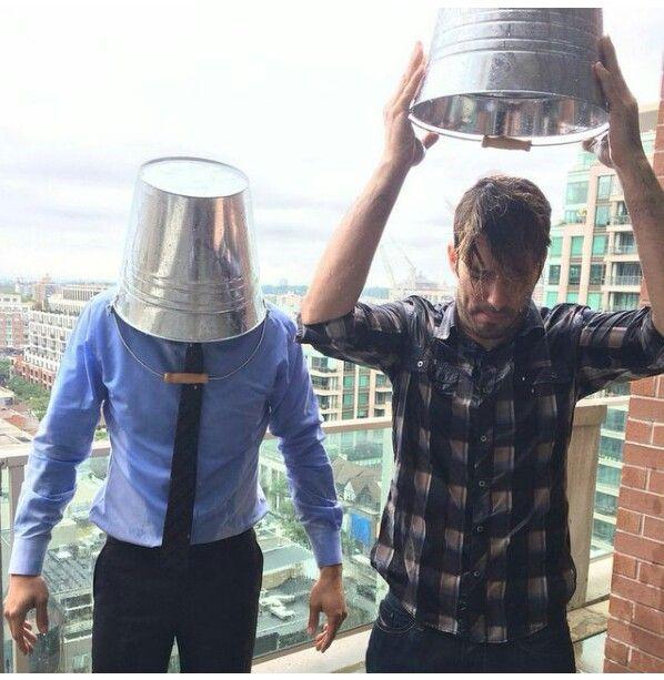 Drew & Jonathan doing the #ALSIceBucketChallenge..--**--