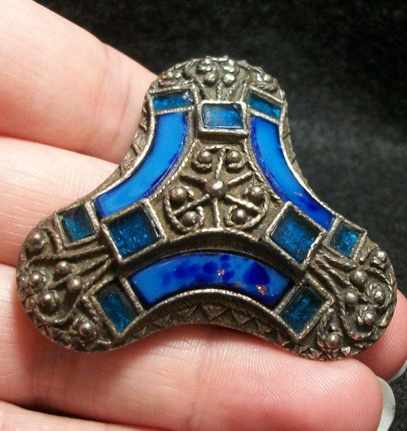 Stunning Signed Miracle Brooch  Viking Style by FeltInMyHeart, $35.99