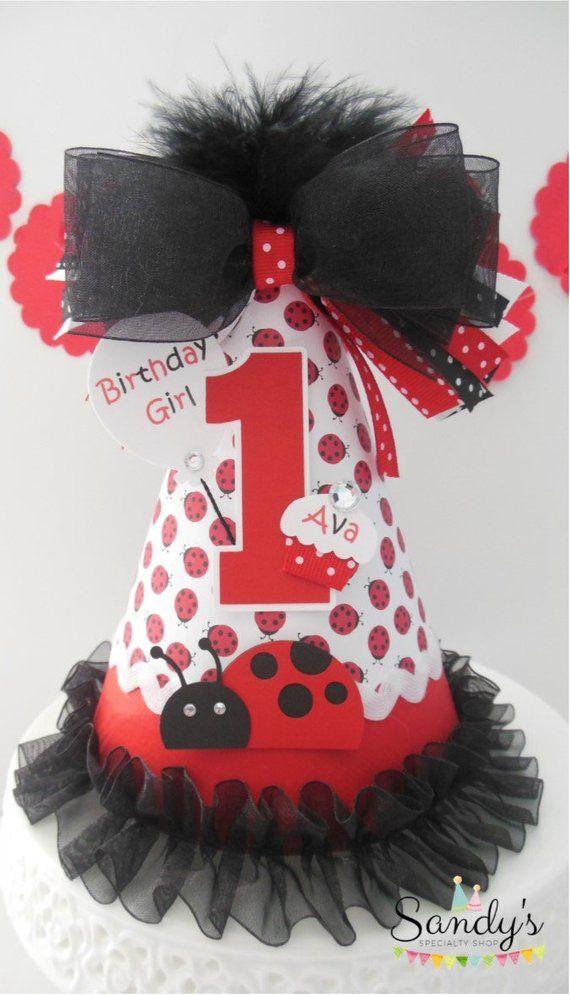 Lil Ladybug Birthday Party Hat