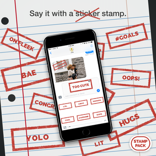 Stamp Pack Say It With A Stamp Iphone Messaging And Imessage Apps Imessage Sticker Sticker App Stamp