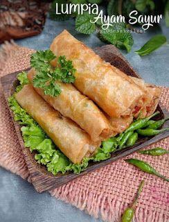 Lumpia Ayam Sayur Lumpia Semarang Resep Resep Masakan