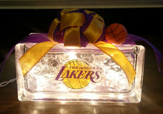 Check out this item in my Etsy shop https://www.etsy.com/listing/197893068/los-angeles-lakers-lighted-glass-block