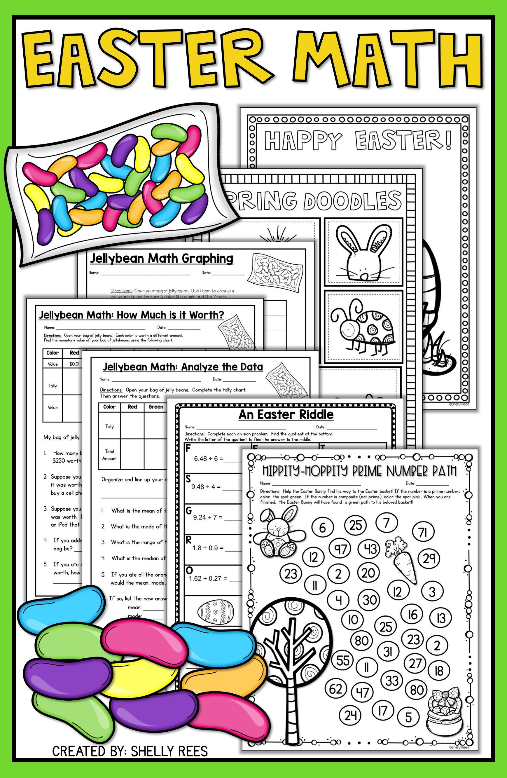 hight resolution of Easter Math Worksheets - Jellybean Math - Easter Activities   Easter math