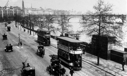 Victoria Embankment In 1904 Featuring Trams London Photos River Thames London History