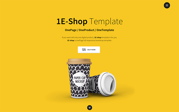 download 1e shop one page single product shop