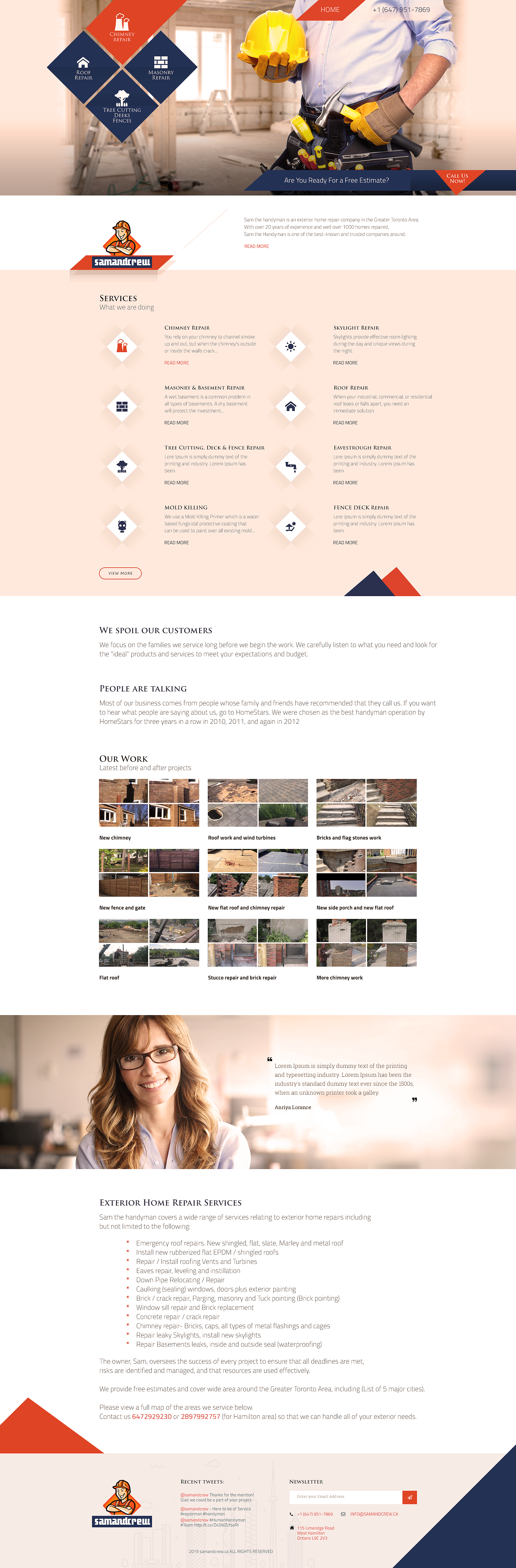 Construction Web Design Roofing Mockup Canada Best It Firm Awesome Are You Looking For A Web De Web Design Online Marketing Services Custom Website