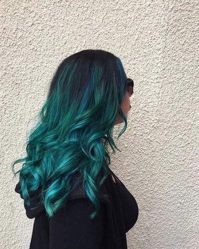 Anime Hair Color Candy Blue Witch Hair Mermaid Hair Braids