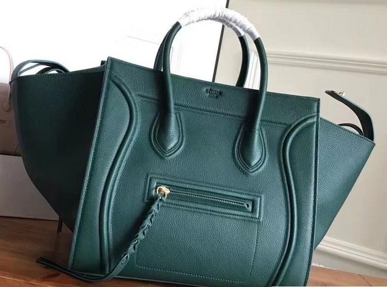 fdfe8999c 2018 Celine Luggage Phantom Bag in Original Grained Leather green ...