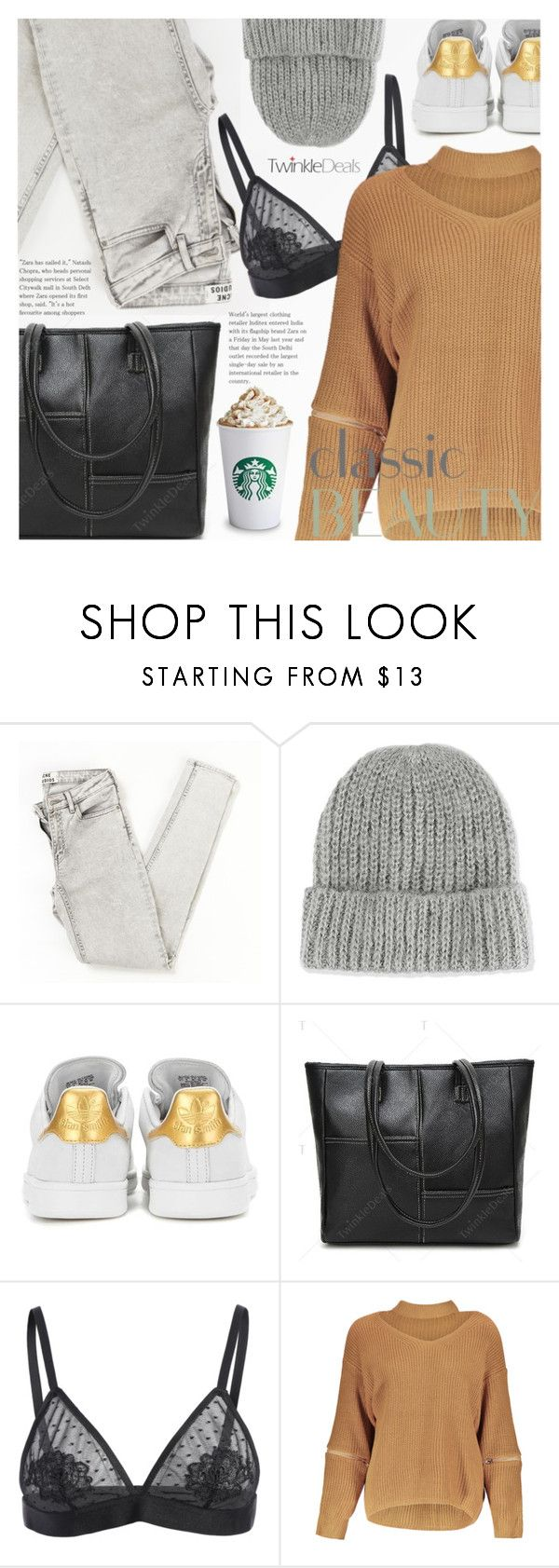 """""""Casual Style"""" by pokadoll ❤ liked on Polyvore featuring Topshop, adidas Originals, polyvoreeditorial and polyvoreset"""