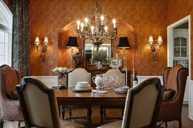 traditional dining room by McCroskey Interiors Dining Rooms