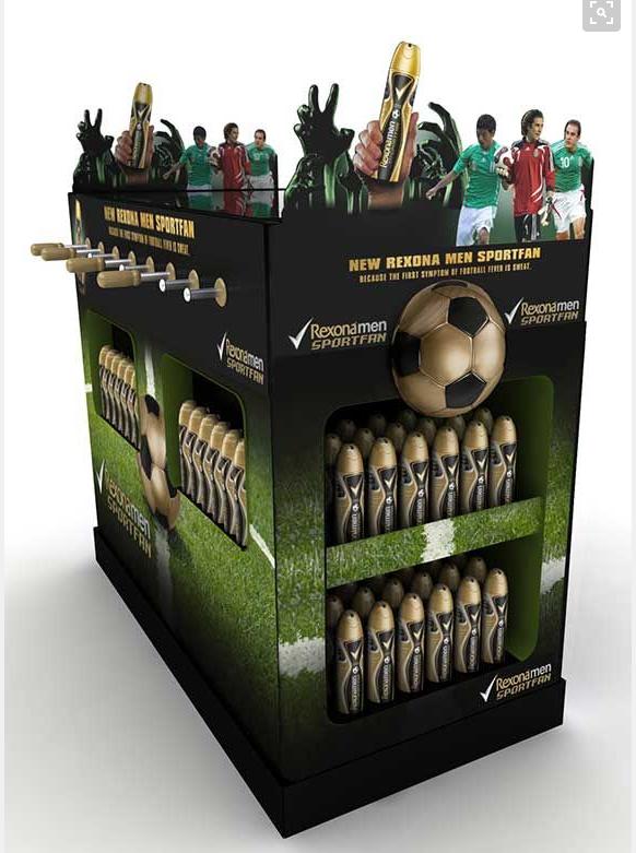 Table football POS unit for Rexona Men